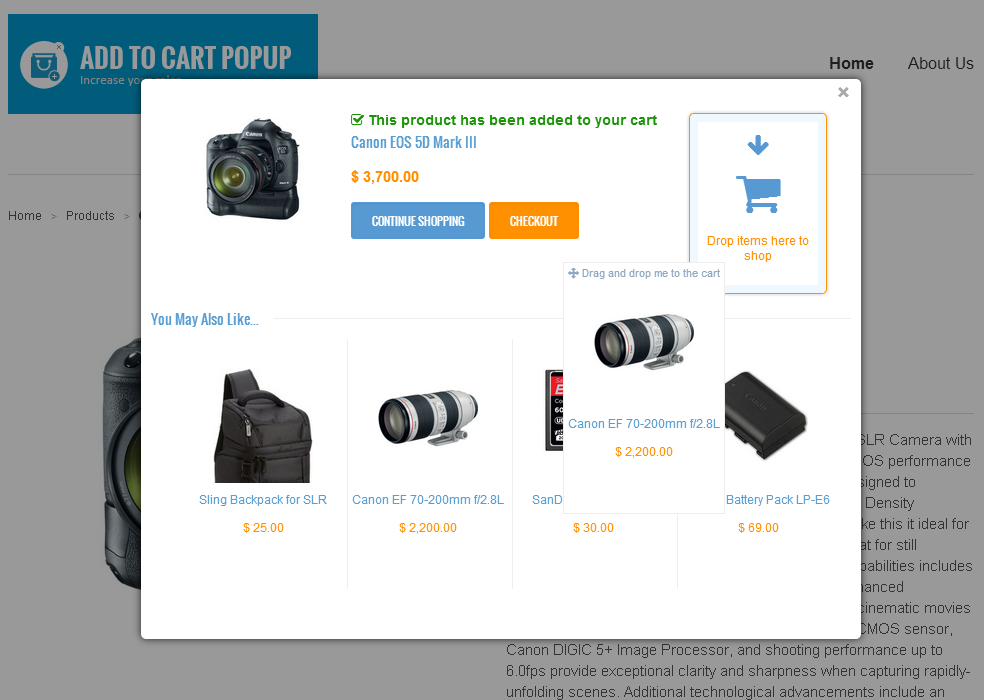 Add To Cart Popup | QAPPS